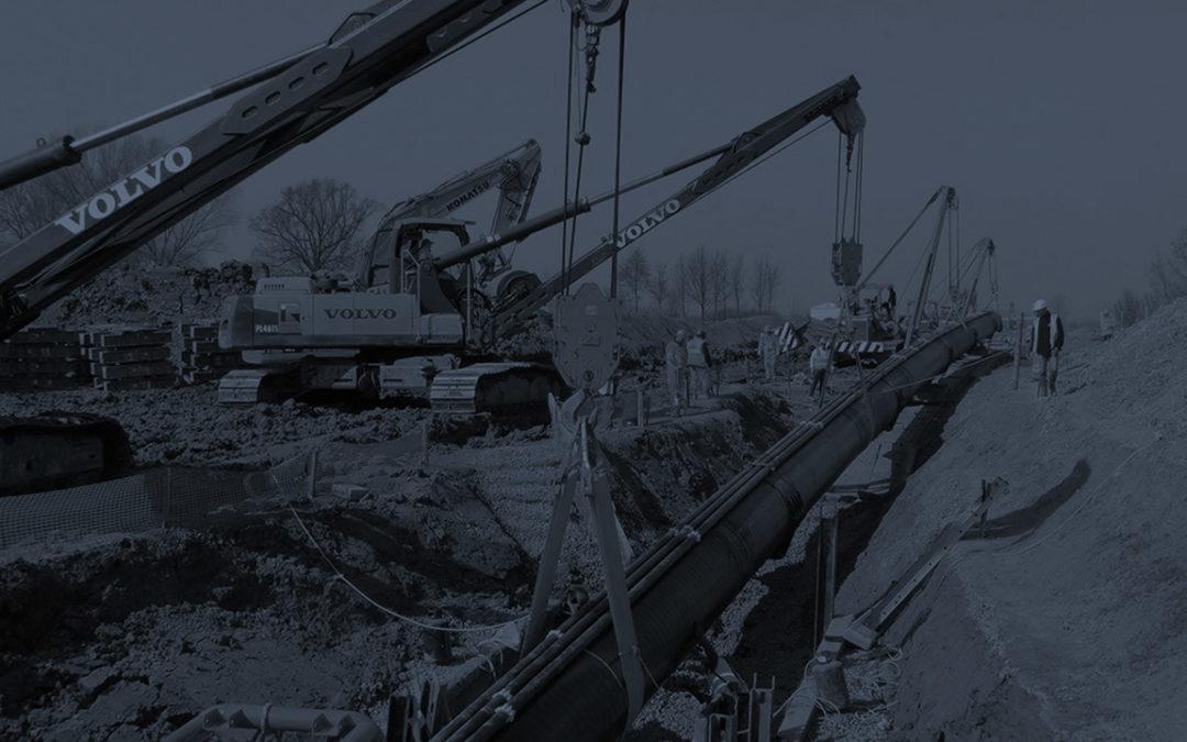 """Gas pipeline """"Poggio Renatico-Cremona"""" DN 1200 (48″)"""